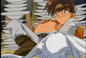 Saiyuki Goku: Big Belly by AnimeBellyFan
