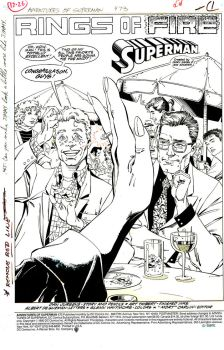 Lois and Clark Engagement page - adv. of Superman by aethibert