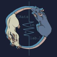 Rats in a lab T-shirt design by mechanicalmasochist