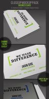 Closeup Mockups : Business Cards by MockupMania