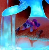 Rarity vs. Giant Crab Commission by Dhui