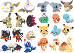 PKMN Stickers by Mousu