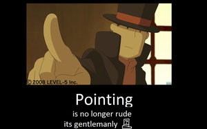 professor layton motivational poster, pointing by mjmpokemon1997
