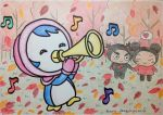 Petty blowing trumpet by dengekipororo