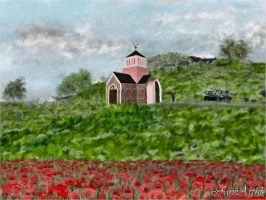 Poppies on a Greek Island by TheFaceArtiste