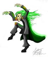 Loki with green fire hair by Mad--Munchkin