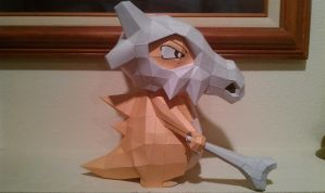 Cubone Papercraft - Side view by Dreamparacite