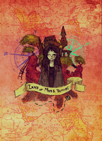 Land of Maps and Treasure by atoms2ashes