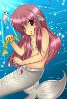 Pink Mermaid by TheNever
