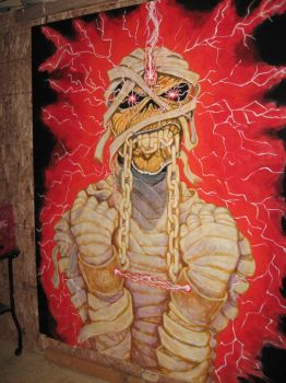 Powerslave color variant custom wall mural by Archon235