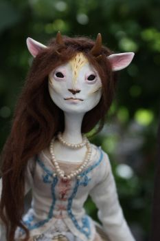 Deer Lady 4 by l-heure-du-the