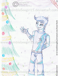 (Secret Santa Gift) Blue: Winter Christmas Land by bumblebeegirl15