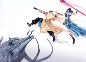 Final Fantasy 13 - Sovereign Fist and Highwind by Nick-Ian