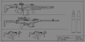 Hybrid weapon designs by DrZoidberg96