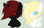 ::CLOSED:: Light and Dark Filly Adopts by PennyDropShop