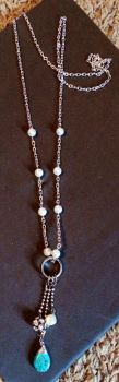 Pearl and Chain Charm Necklace by PerryAlexandra