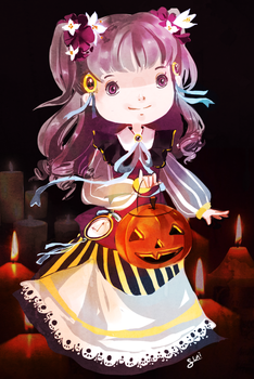 Halloween Candles by Pochi-mochi