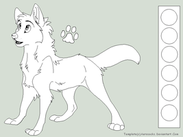 Free Wolf Lineart2 by AeroSocks