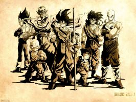 Dragon Ball Z en sepia by azeta