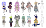Adoptables Set: 2 [Mixed] !Open! PRICE LOWERED by alataya