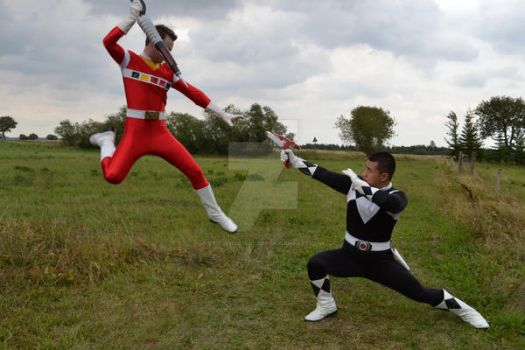 Red Space vs. Mighty Morphin Black.. ? by Red-Space-Ranger
