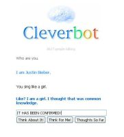 Cleverbot- I am Justin Beiber by Silverfly71