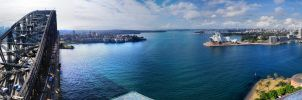 Sydney Harbour from the Pylon by shaun-johnston