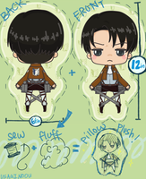 Levi Hug Plushes! by UsagiNoOu