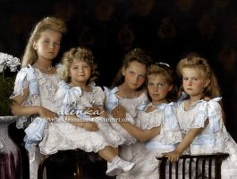 Romanov children by VelkokneznaMaria