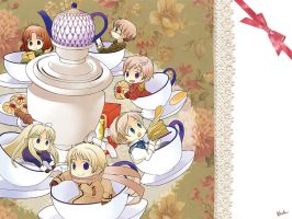 Hetalia Fan Art - Samovar Teatime by swa-oku