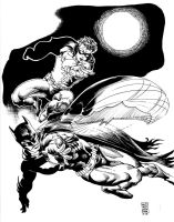 Batman and Robin by kevinesque