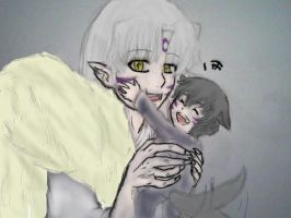 Sesshomaru and Kenpeki by AbominalSnowDemon