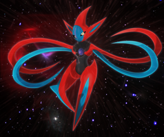 cosmic virus, deoxys by Elsdrake