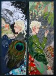 Lucius and Draco Malfoy bookmarks by sassynails