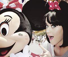 Katy Perry with Minnie by nataschamyeditions