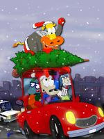 drivin' home for xmas by 404bot