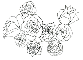 Roses Sketch by Tayeloquin