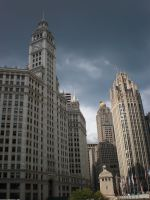 Wrigley tower ... by LunaticDesire