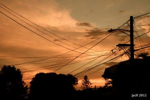 sky and cable lines by jycll