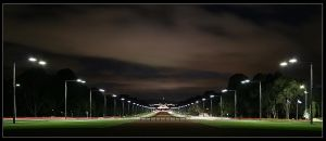 Anzac Parade at Night by Eman333