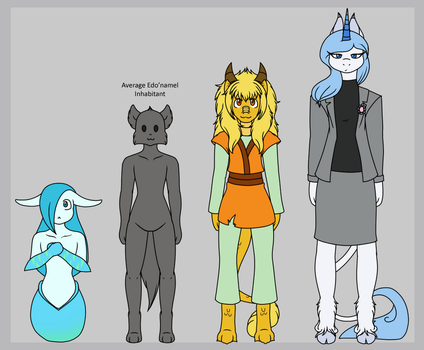 Edo'namel Character Height Comparison by DaikaLuff