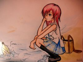 Message in a Bottle - Kairi by alinadrongo