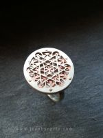 Metatron's Cube Flower of Life Ring by jeanburgers
