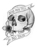 Dead Men Tell No Tales Skull by liquid-venom