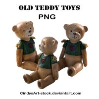 Old Teddy Toys by CindysArt-Stock