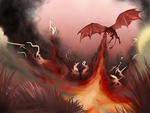 Flaming Fields by Spottedfire-cat