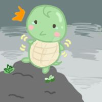 Don't fall Baby Turtle by MishiMishiLove