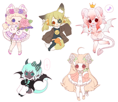 Chibi Sketch Batch 1 by Cake--Chan