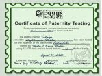 Paternity Certificate for NightingaleStables by ShadinaLonesea