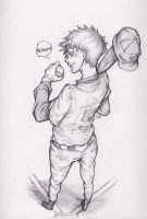 sketch 15: let's play ball by Devious-Rookie